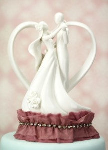 Antique-Silk-and-Rhinestones-Heart-Silhouette-of-Love-Cake-Topper-Ivory-or-Mauve