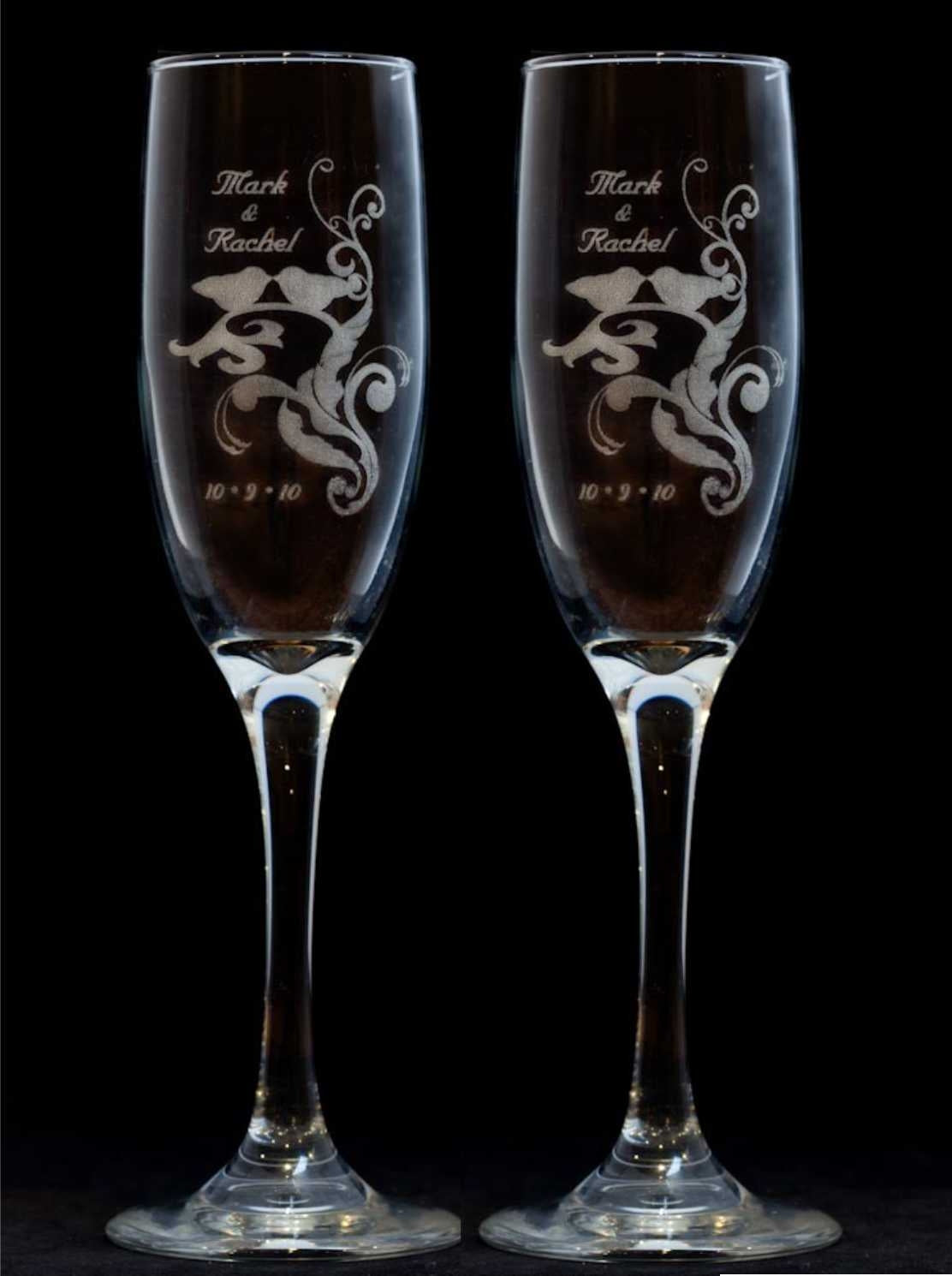 Wedding Toast Goblets for a Customized Wedding