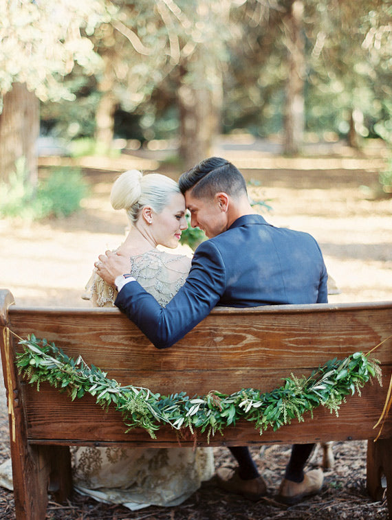 Lucy Munoz Photography http://www.100layercake.com/blog/2015/03/12/elopement-inspiration-redwoods-woodland-wedding/