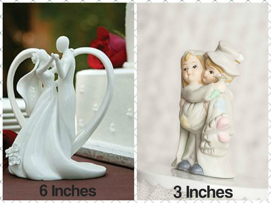 Cake topper size