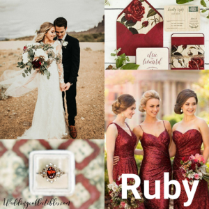 Ruby Wedding Idea Board