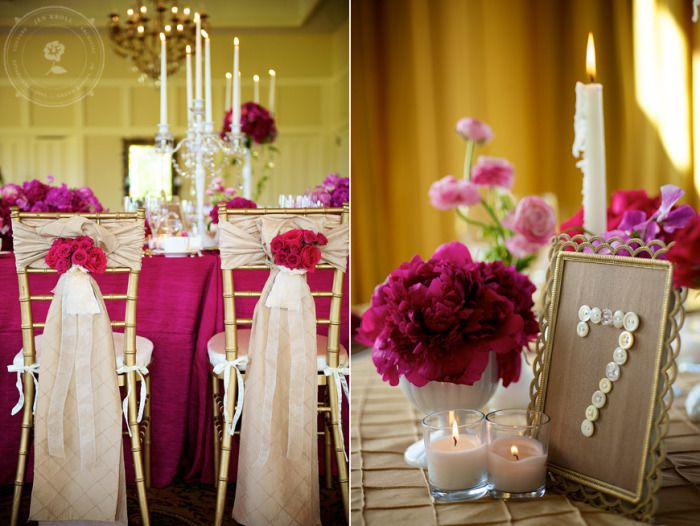 Fuchsia and taupe wedding: Bold Wedding Color Combo