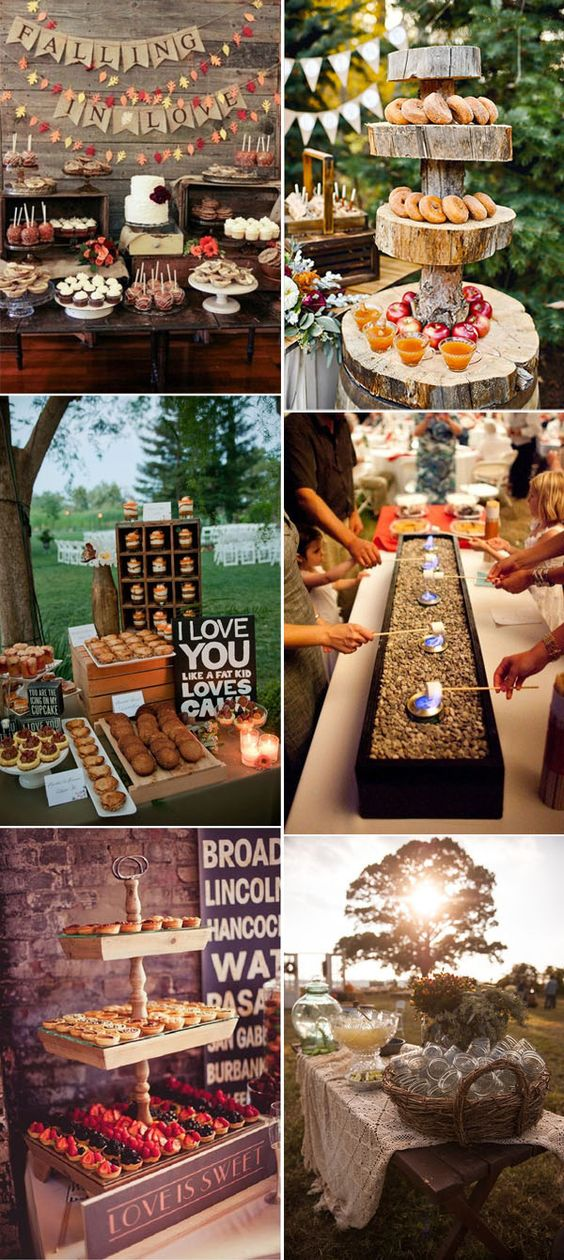 autumn wedding food ideas