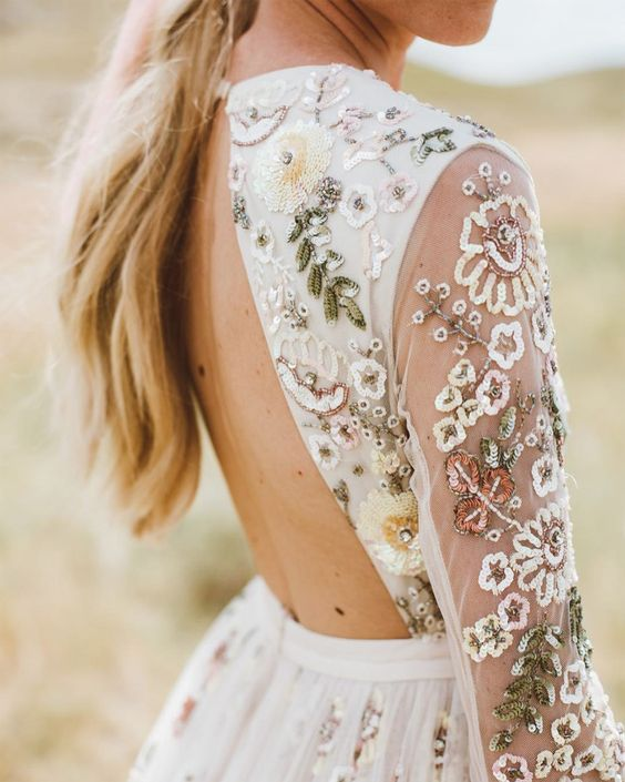 A Splash of Colour | the Embellishment Bridal Fashion Trend
