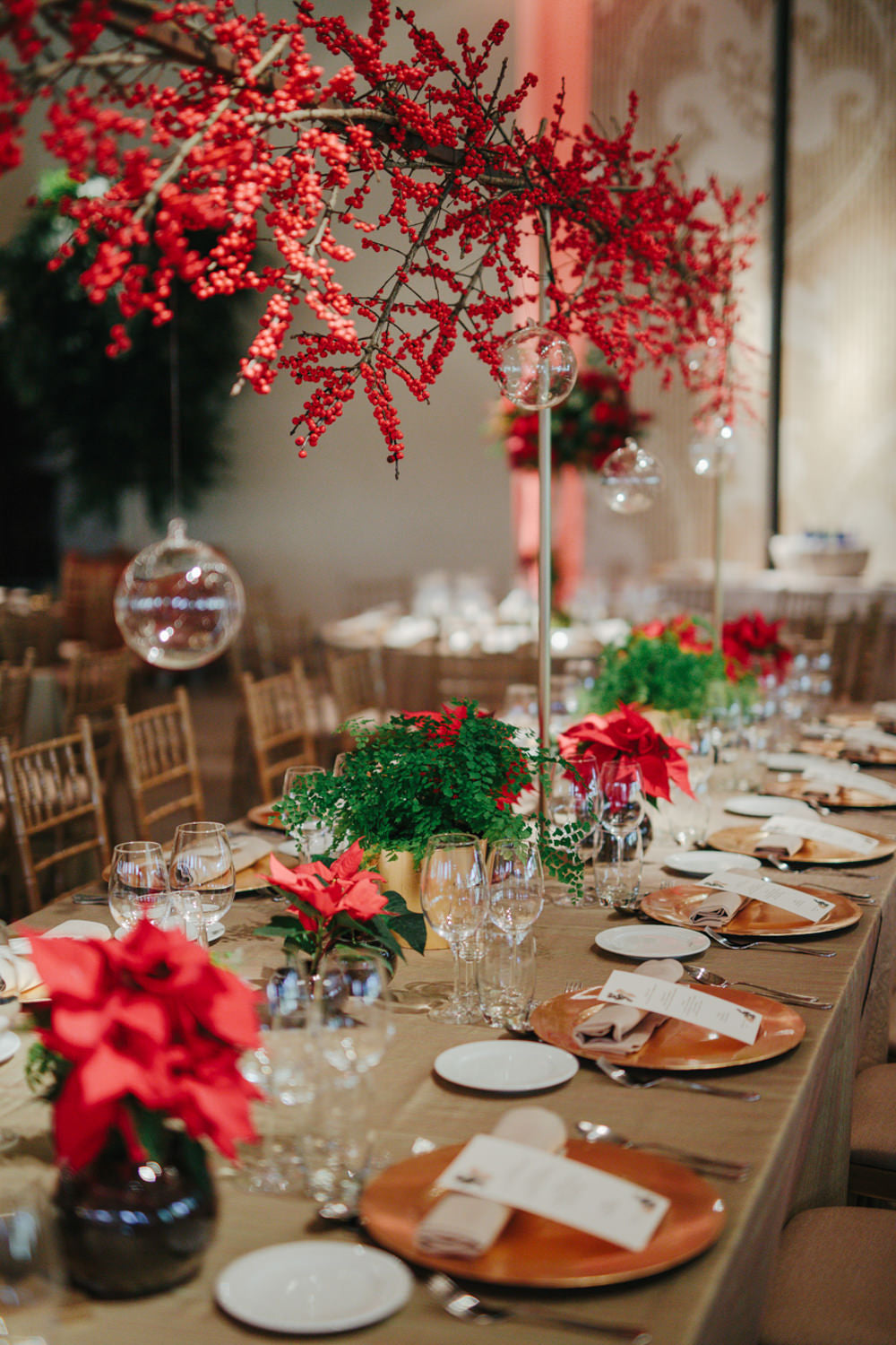 Christmas Wedding Tables