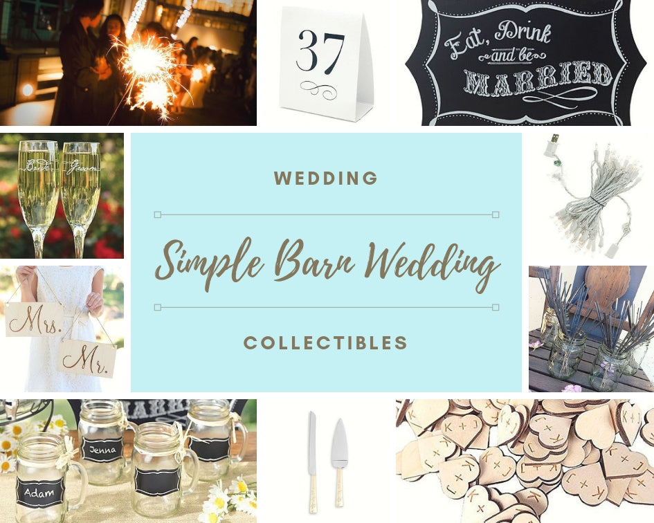 simple barn wedding accessories