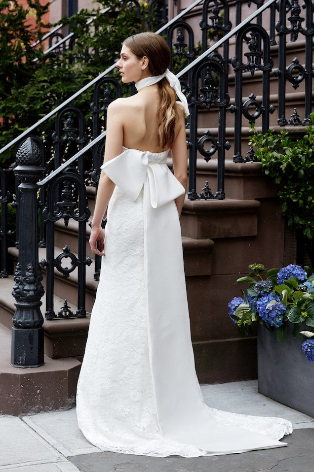 Chic white wedding dress