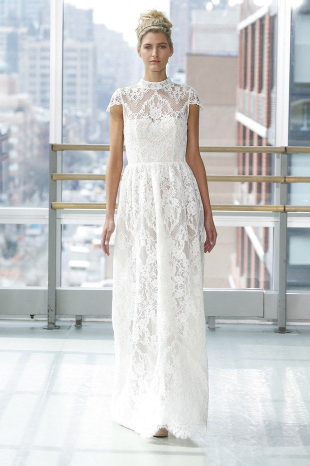 Lace and White wedding dress
