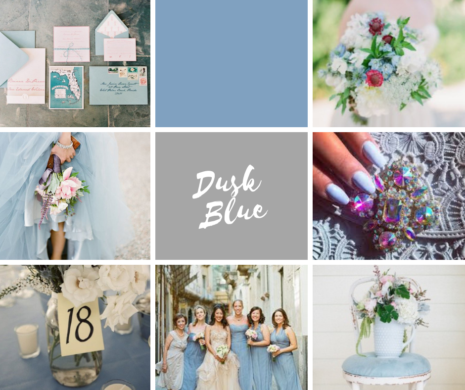 Wistful Wedding Colors | Dusk Blue