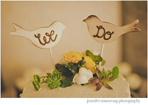 Love Bird Spring Cake Topper