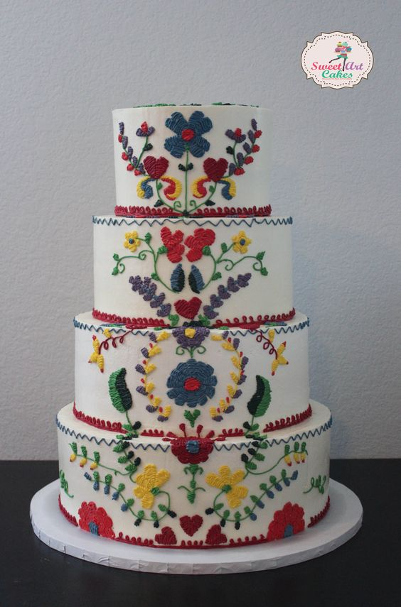 #Mexican #Embroidery #WeddingCake