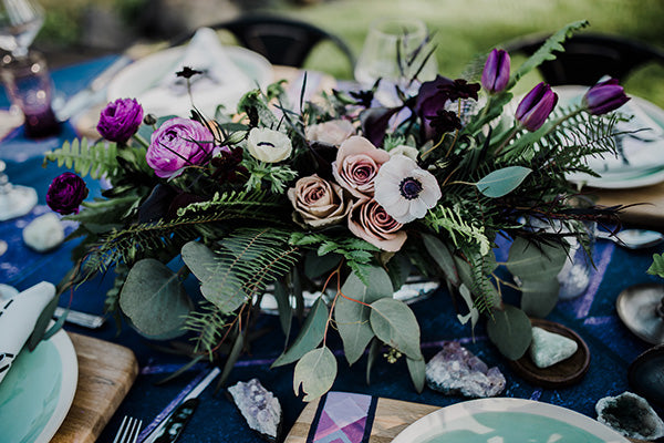 Ultra Violet Rock N' Roll Wedding Inspiration #pantone2018 #edgyweddings #bohobridalfashion