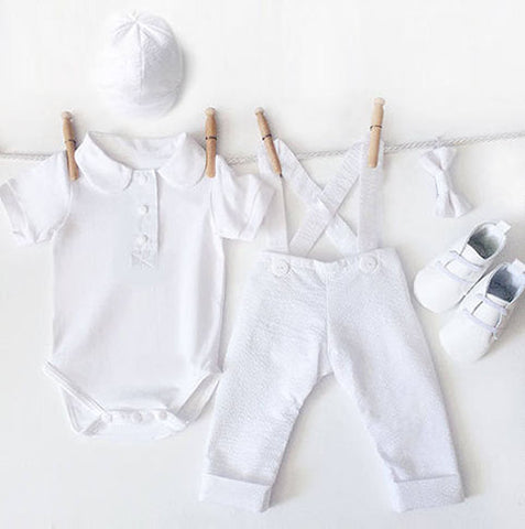 5 Piece Boys Baptism Outfit