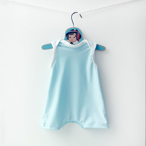 boys light blue swimming suit