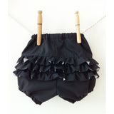 Baby Girl Black Ruffle Bloomers