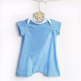 baby boy blue and white gingham swimsuit
