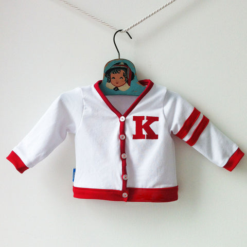 Retro Baby Varsity Sweater | Custom Letterman Jacket