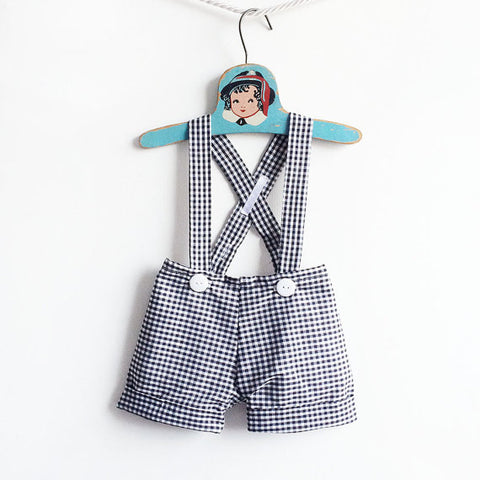 gingham toddler boy page boy shorts