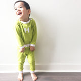 Unique Green Handmade Christmas Boy Outfit