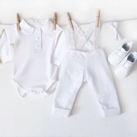 4 Piece Baby Boy Winter Christening Outfit, White Boy Baptism Outfit, Dedication Outfit, Baptismal Outfit, Baby Blessing Outfit,Baptism Suit