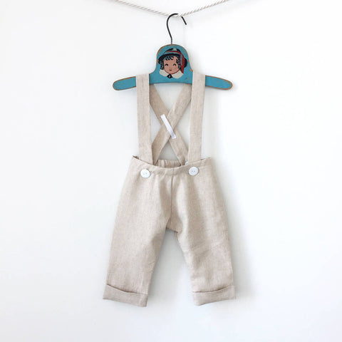Natural Baby Linen Pants, Baby Linen Trousers, Toddler Linen Pants, Boy Linen Pants, Beach Wedding Pants, Suspender Pants, Linen Overalls