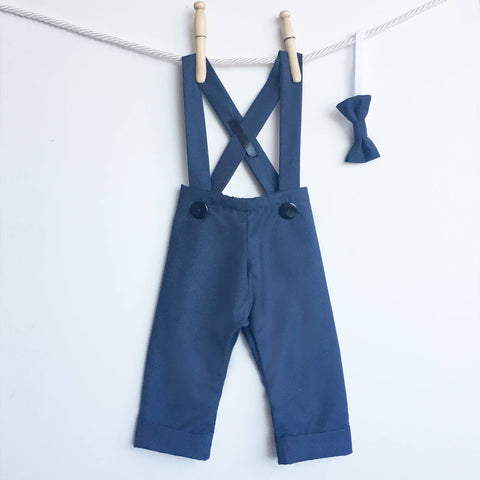 Baby Boy Longall Overalls, Boys Navy Blue Longalls, Baby Boy Suit Pants, Baby Boy Clothes, Ringbearer Clothes, Boys Wedding Clothes
