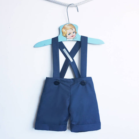 Navy Blue Suit Shorts, Baby Shortalls Boy, Baby Blue Dressy Shorts, Baby Boy Wedding Clothes, Spring Summer Outfit, Baby Suspender Shorts
