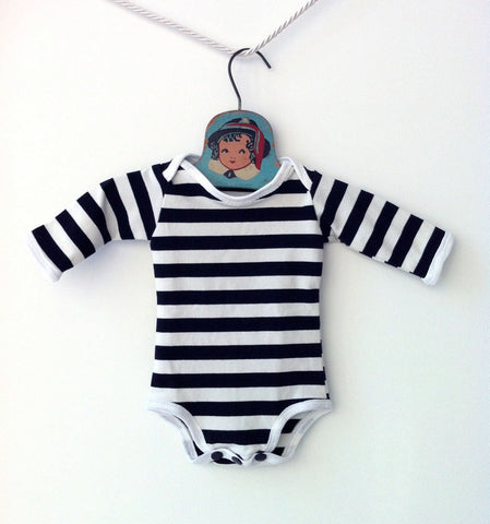Black and White Striped Onesie