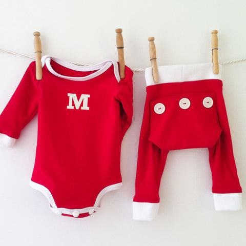Baby Monogrammed Pajamas, Personalized Valentines Pajamas, Valentines Clothes, Monogram Baby Valentine Outfit, 1st Valentines Day