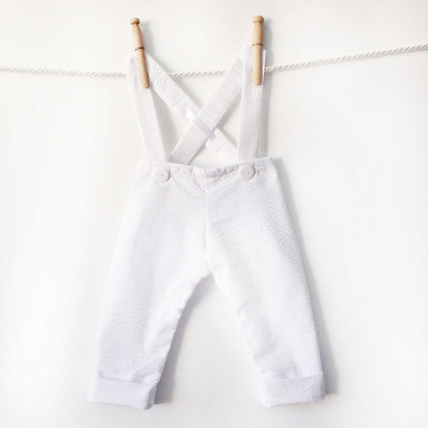 Baby Boy Winter Christening Pants, Flannel Lined Warm Baptism Pants, Blessing Pants, White Longalls, Christening Outfit, Baptism Outfit