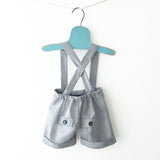 boys light grey dressy shorts