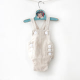 Linen Baby Sunsuit Set
