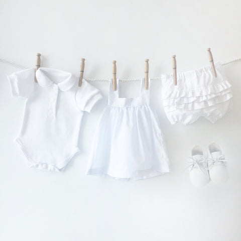 Baby girl christening gown set