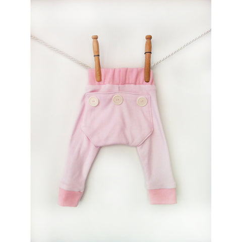 Baby girl pink long john leggings