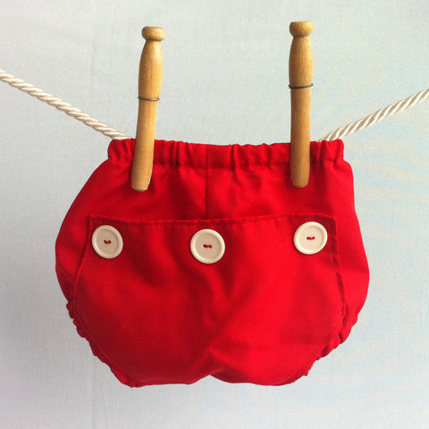 Red Long John Diaper Covers