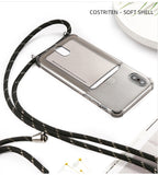 Phone Case for iPhone Lanyard  and credit card holder