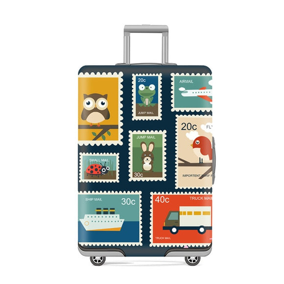 Stamp Suitcase Protective Trunk Covers