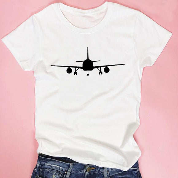 Airplane T-shirt Woman