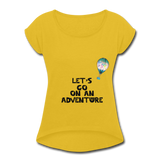Lets go on an adventrue by air - mustard yellow