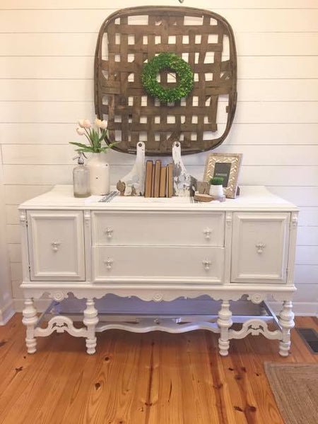 Decorating a Buffet for Spring-4 ways