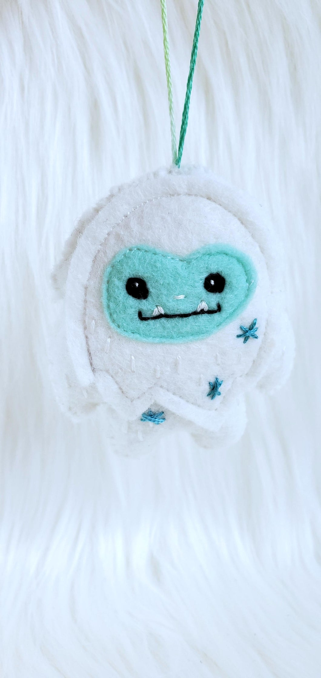 Eti the Yeti - Embroidered Ornament