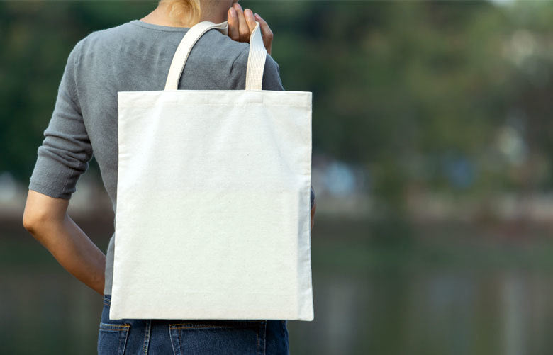Use tote bags for groceries — not as a home organization crutch