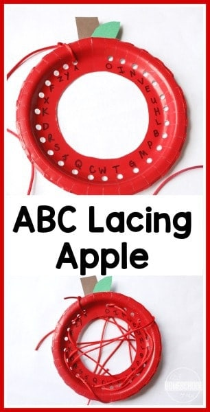 Alphabet Apple Lacing Craft