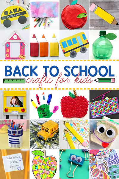 50 Fun Back to School Crafts for Kids