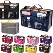 Load image into Gallery viewer, Portable Cosmetic Bag Storage Caser Bag Insert Travel Makeup Bag