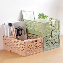 Load image into Gallery viewer, Multifunction Folding Desk Supplies Organizer Cosmetics Stationery Hollow Storage Box