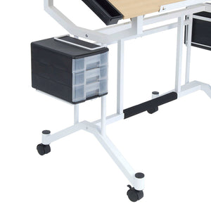 Get studio designs pro craft station in white with maple 13245