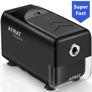 Electric Pencil Sharpener Heavy Duty, AFMAT Pencil Sharpener for Classroom, Auto Stop, Super Sharp & Fast, Industrial Pencil Sharpener for 6-8mm No.2/Colored Pencils, School, Office, Home, Black