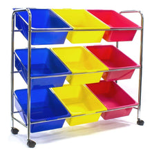 Load image into Gallery viewer, Amazon best sorbus toy bins office supply organizer on wheels plastic storage cart with removable bins ideal for toys books crafts office supplies and much more primary colors