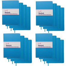 Load image into Gallery viewer, Purchase paper craft 16 pack 140pg 8 5 x 5 5 leatherette lined writing journals wide ruled banded notebook with ribbon bookmark light blue a5 size